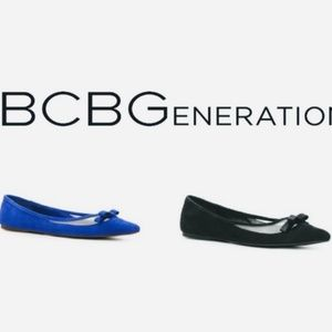 BGBG BLUE Suede Flats